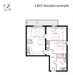 2 bed plan