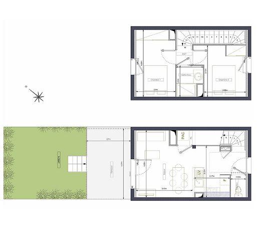 Plan villa T3