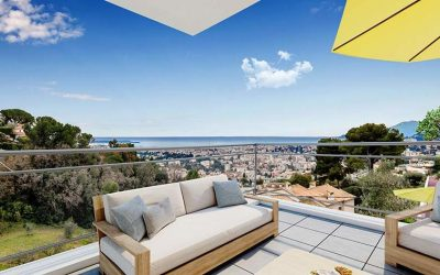 Le Cannet, exclusive residential estate overlooking the bay of Cannes.