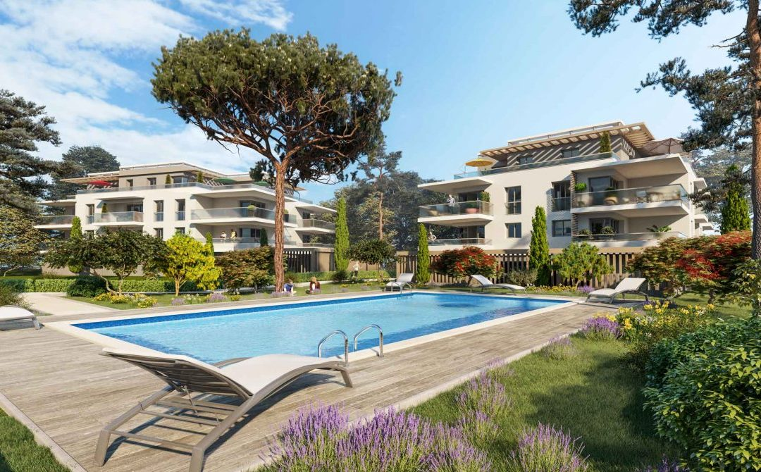 New development with pool in sought-after area Le Cannet – from €258,000.