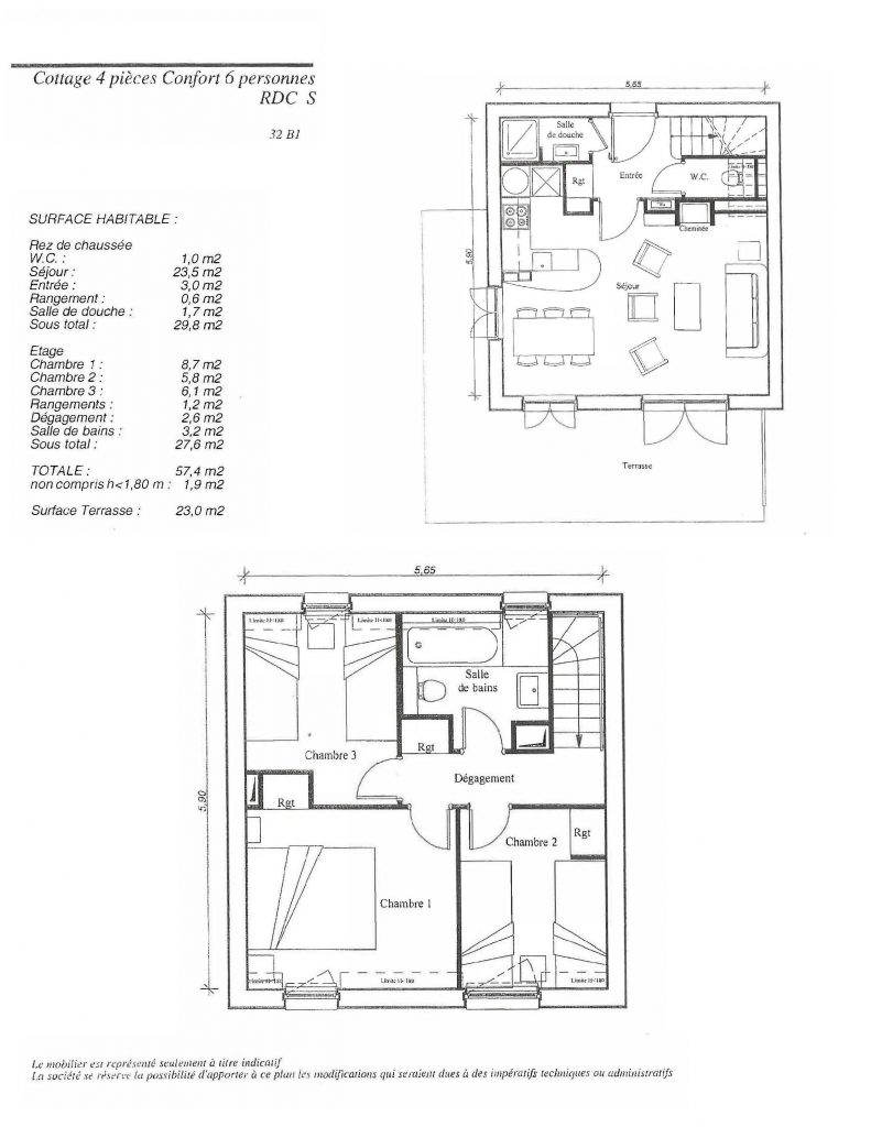 Plan 3 bed duplex 32B1-878