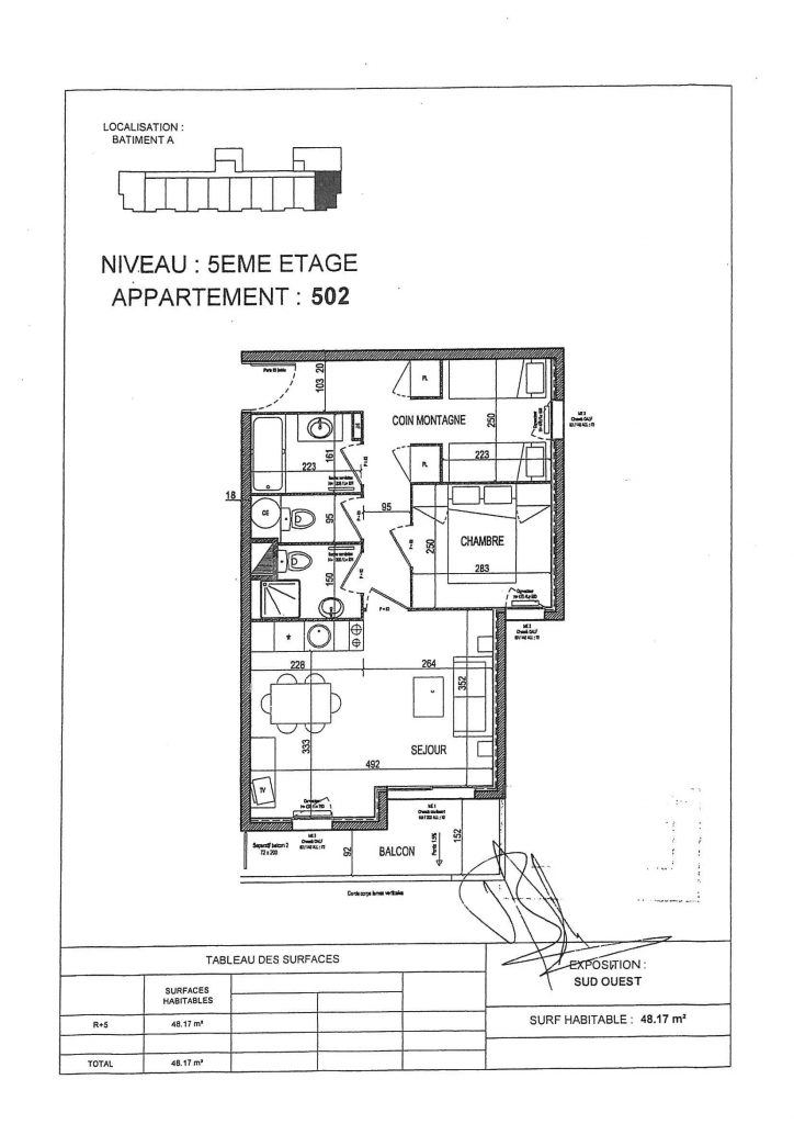 Plan Appartement-A 502