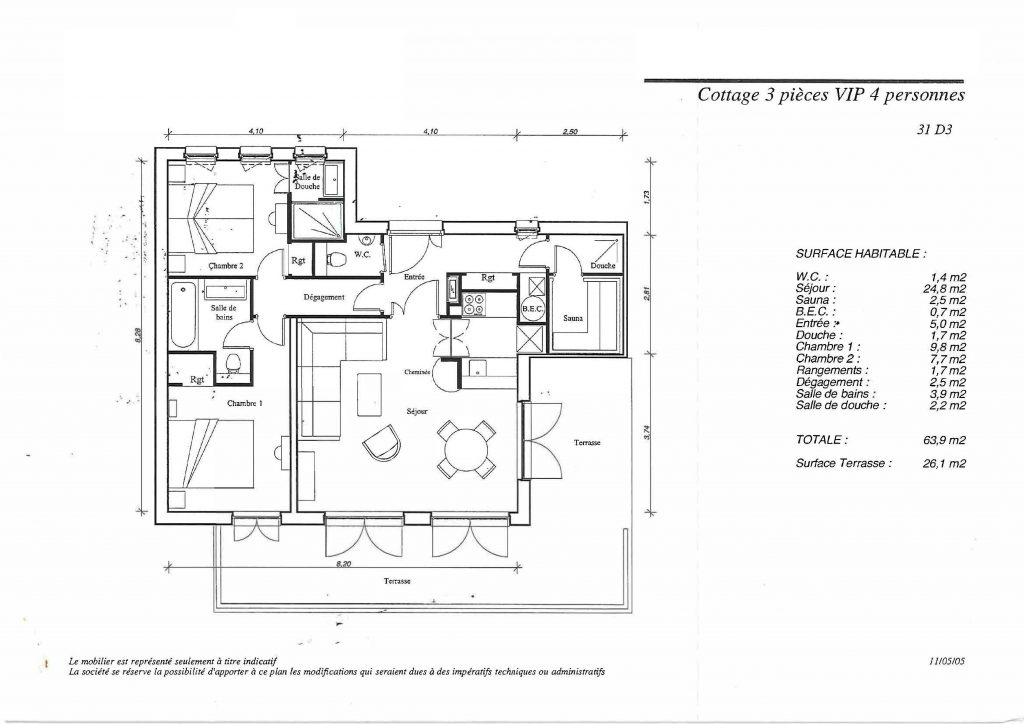 Plan cottage 31 D 3- VIP 2bed