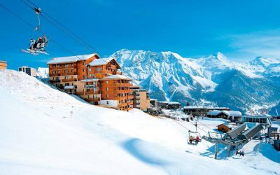 Orcieres Merlette, superb high-altitude resort in the Southern French Alps.