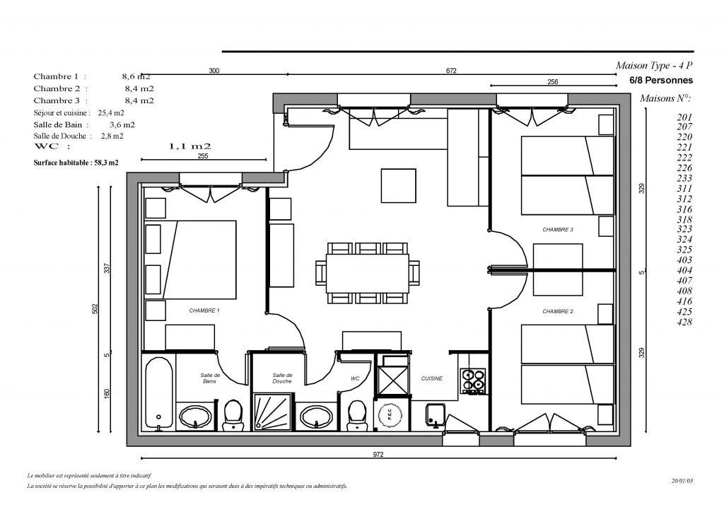 Plan Maison 4P (similaire 214)