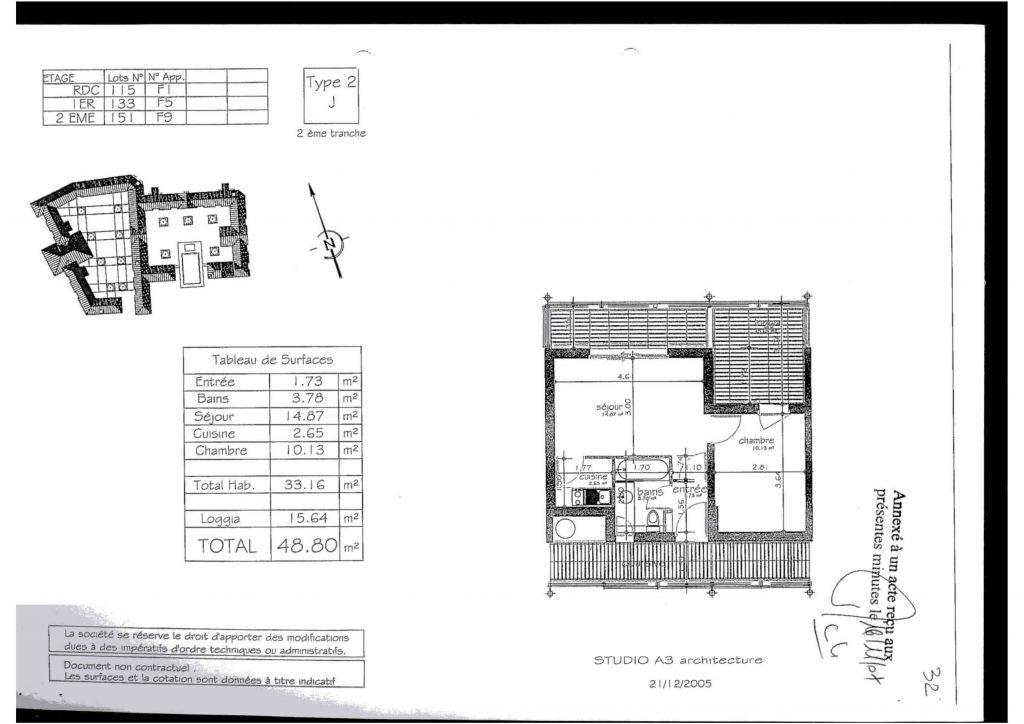 Plan Appartement F5 SN