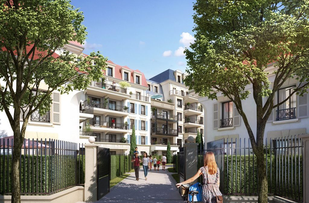 New development with quality apartments in Clamart, South West Paris.