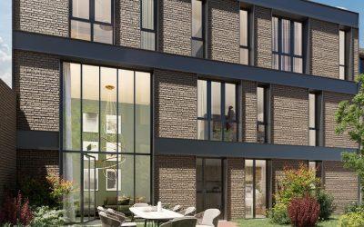 Paris 19th – New small scale apartment bloc close to Metro station.
