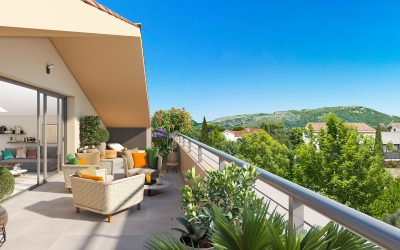 Toulon, small scale new development in highly sought-after Cap Brun.